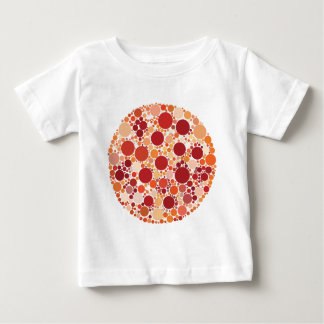 Camiseta Para Bebê pontos da pizza