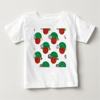 Camiseta Para Bebê pontos do Natal do sequin