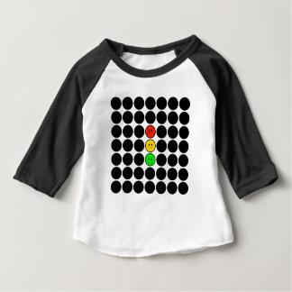Camiseta Para Bebê Pontos pretos de w do sinal de trânsito