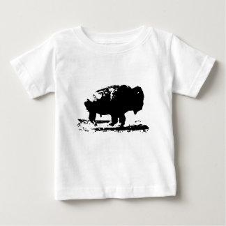 Camiseta Para Bebê Pop art Running do bisonte do búfalo