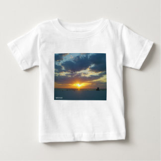 Camiseta Para Bebê Por do sol