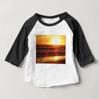 Camiseta Para Bebê Por do sol chave da praia do Siesta
