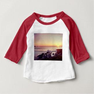 Camiseta Para Bebê Por do sol da praia de Fistral