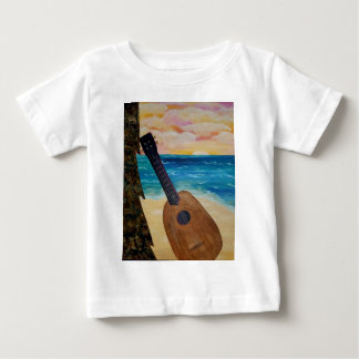 Camiseta Para Bebê por do sol de Havaí