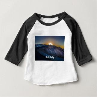 Camiseta Para Bebê Por do sol do ponto do zabriskie do Vale da Morte