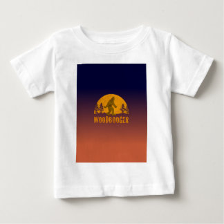 Camiseta Para Bebê Por do sol do vintage de Woodbooger