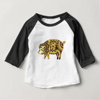 Camiseta Para Bebê Porco