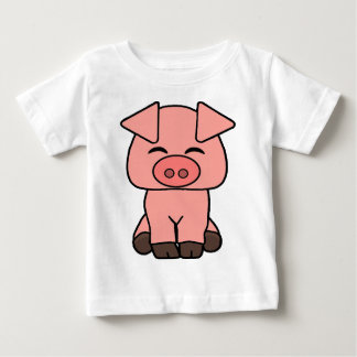 Camiseta Para Bebê Porco cor-de-rosa bonito