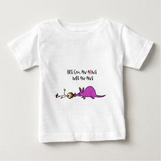 Camiseta Para Bebê Porco-da-terra engraçado que come desenhos
