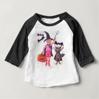 Camiseta Para Bebê Porco e guaxinim o Dia das Bruxas