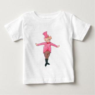Camiseta Para Bebê Porco em um chapéu alto