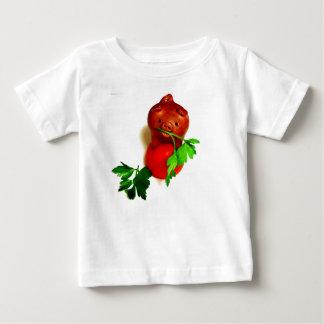 Camiseta Para Bebê Porco engraçado com bebê da salsa e t-shirt dos