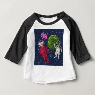 Camiseta Para Bebê Porco, guaxinim e elefante cor-de-rosa