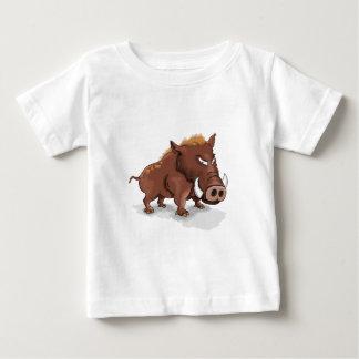 Camiseta Para Bebê Porco marrom selvagem dos humor engraçados dos