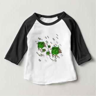 Camiseta Para Bebê porcos britânicos da conversão