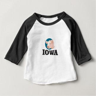 Camiseta Para Bebê porcos de iowa