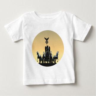 Camiseta Para Bebê Porta de Brandemburgo 002,1 rd do Quadriga de