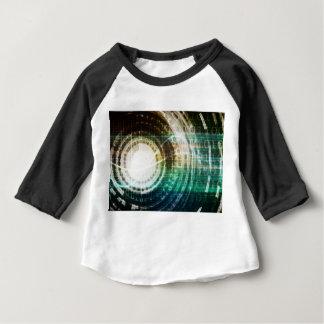 Camiseta Para Bebê Portal futurista da tecnologia com Digitas