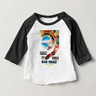 Camiseta Para Bebê Poster 1947 grande da raça de San Remo Prix