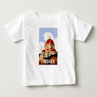 Camiseta Para Bebê Poster de viagens 1930 de Florença Italia