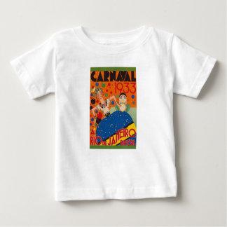Camiseta Para Bebê Poster de viagens 1933 do mundo do vintage do