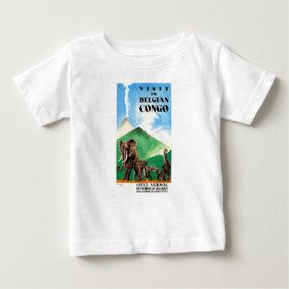 Camiseta Para Bebê Poster de viagens 1939 dos elefantes de Congo