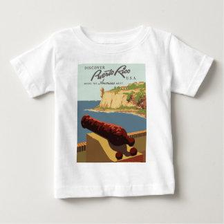 Camiseta Para Bebê Poster Puerto Rico das viagens vintage