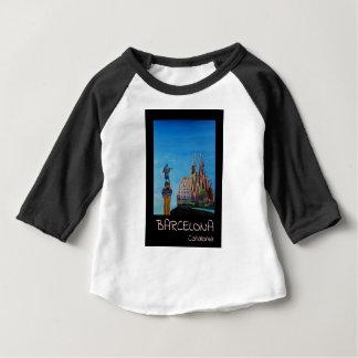 Camiseta Para Bebê Poster retro Barcelona