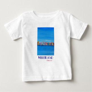 Camiseta Para Bebê Poster retro Willemstad Curaçau