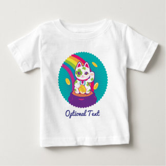 Camiseta Para Bebê Pote de boa sorte de Maneki Neko do gato de ouro