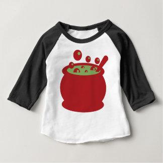 Camiseta Para Bebê Pote vermelho e verde do cozinhar