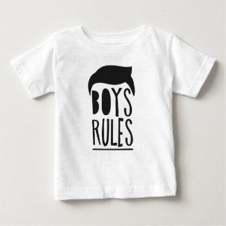 Camiseta Para Bebê Pouco menino legal do homem preto dos miúdos do