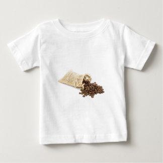 Camiseta Para Bebê Pouco sackcloth com feijões de café