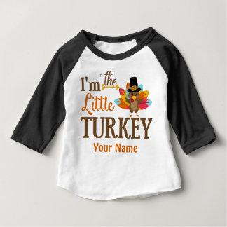 Camiseta Para Bebê Pouco t-shirt personalizado acção de graças de