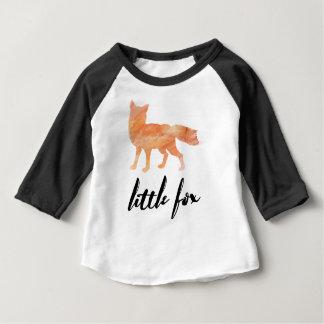 Camiseta Para Bebê Pouco Tshirt do basebol do bebê do Fox