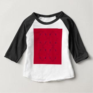 Camiseta Para Bebê Povos azuis vermelhos dos elementos do design
