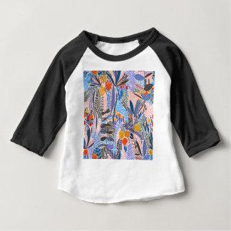Camiseta Para Bebê Povos do ethno das flores dos elementos do design