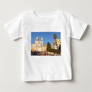 Camiseta Para Bebê Praça di Spagna, Roma, Italia