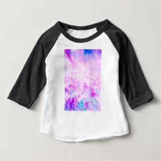Camiseta Para Bebê Prado roxo abstrato da aguarela