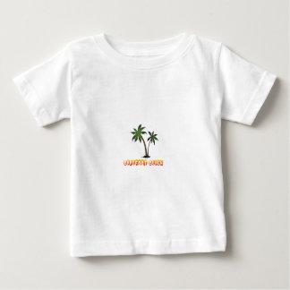 Camiseta Para Bebê praia descalça Florida.