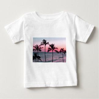 Camiseta Para Bebê Praia do por do sol