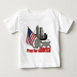 Camiseta Para Bebê Pray para América