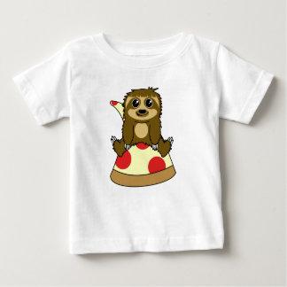 Camiseta Para Bebê Preguiça da pizza