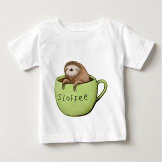 Camiseta Para Bebê Preguiça do café de Sloffee