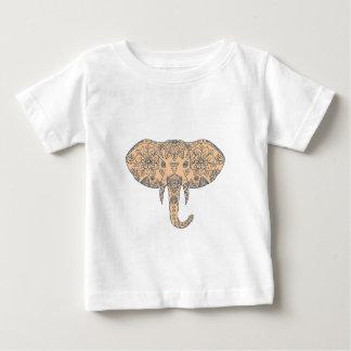 Camiseta Para Bebê Presa principal Mandalaa do elefante
