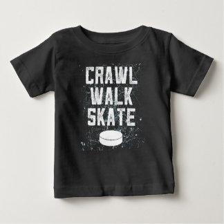 Camiseta Para Bebê Presente do t-shirt do bebê do hóquei em gelo do