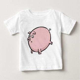 Camiseta Para Bebê Presente engraçado do Tshirt do bebê do porco