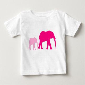 Camiseta Para Bebê Presentes cor-de-rosa do bebê do elefante