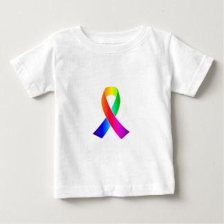 Camiseta Para Bebê Presentes da fita do arco-íris da consciência do