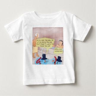 Camiseta Para Bebê Presentes engraçados do boneco de neve cómico de